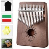 Kalimba set - 17 tonen - Duimpiano - Muziekinstrument - Laurierhout