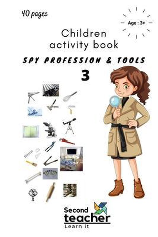 Spy Profession and Tools;children Activity Book-3