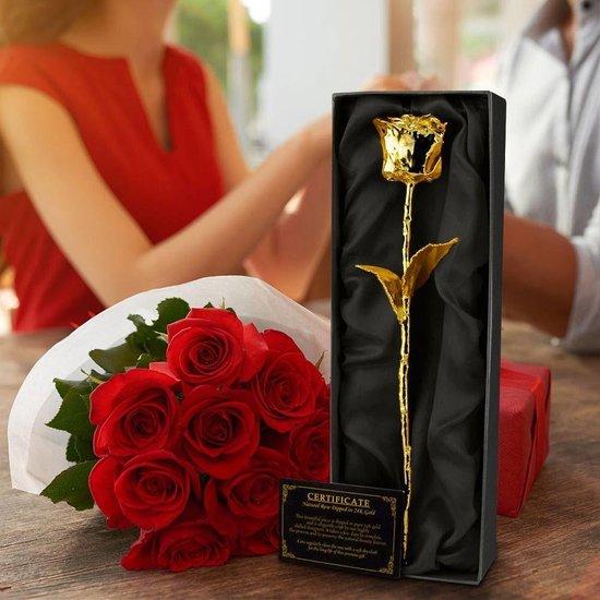 MikaMax 24 kt Gouden Roos Golden Rose ± 28-30cm lang