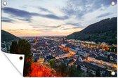 Uitzicht vanaf het Slot Heidelberg in Duitsland 90x60 cm