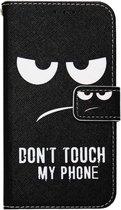 ADEL Kunstleren Book Case Portemonnee Pasjes Hoesje voor Samsung Galaxy A6 (2018) - Don't Touch My Phone