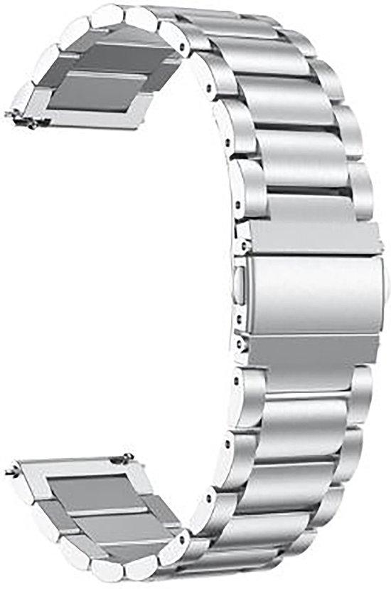 Horlogeband van Metaal voor Shinola   22 mm   Horloge Band - Horlogebandjes   Zilver