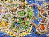 Autospeelkleed strand 80 x 120 cm inclusief speelgoed autootjes -  Speelkleed setje met autos