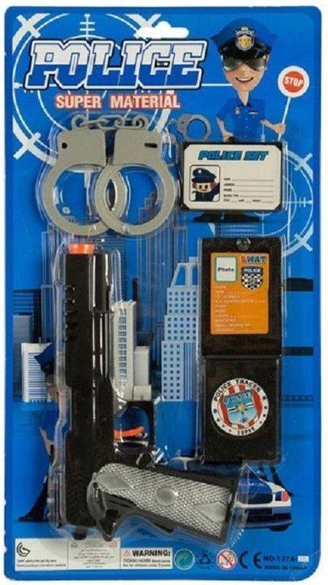 Politie accessoires speelgoed 4 delig voor kinderen Verkleedaccessoirescarnavalaccessoires Kinderspeelgoed Speelgoed Politieagentje spelen