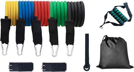 Basic Fitness set voor in- en outdoor - 11 Delig - Inclusief opbergtas