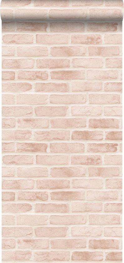 ESTAhome behangpapier bakstenen licht perzikroze - 139166