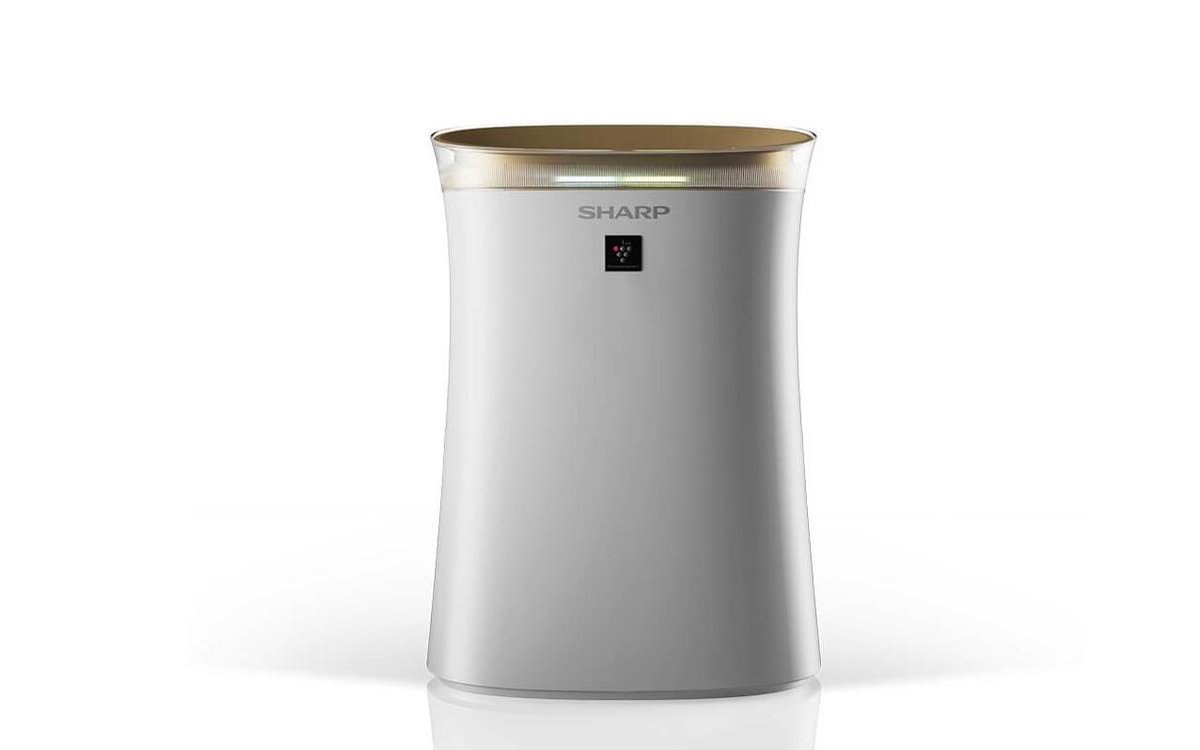Sharp UA-PG50E-W HEPA luchtreiniger met ionisator – 38 m² – wit/goud
