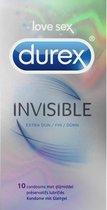 Durex Invisible Condooms met Extra Glijmiddel - 10 stuks