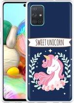 Samsung Galaxy A71 Hoesje Sweet Unicorn