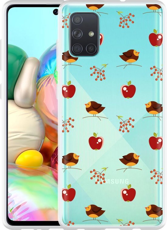 Samsung Galaxy A71 Hoesje Apples and Birds