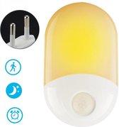 Peerlights - LED-nachtlamp plug-in/stopcontact – nachtlampje met bewegingssensor – Werkt op stroom – Warmlicht