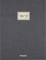 Brepols Schoolagenda 2020-2021 • 16 Mnd • Essenz New • Antraciet • 21 x 27 cm