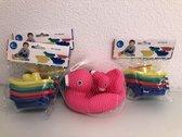 Diverse drijfspeelgoedartikelen voor kinderen om mee te spelen