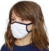 Kinder Mondmaskers white out print