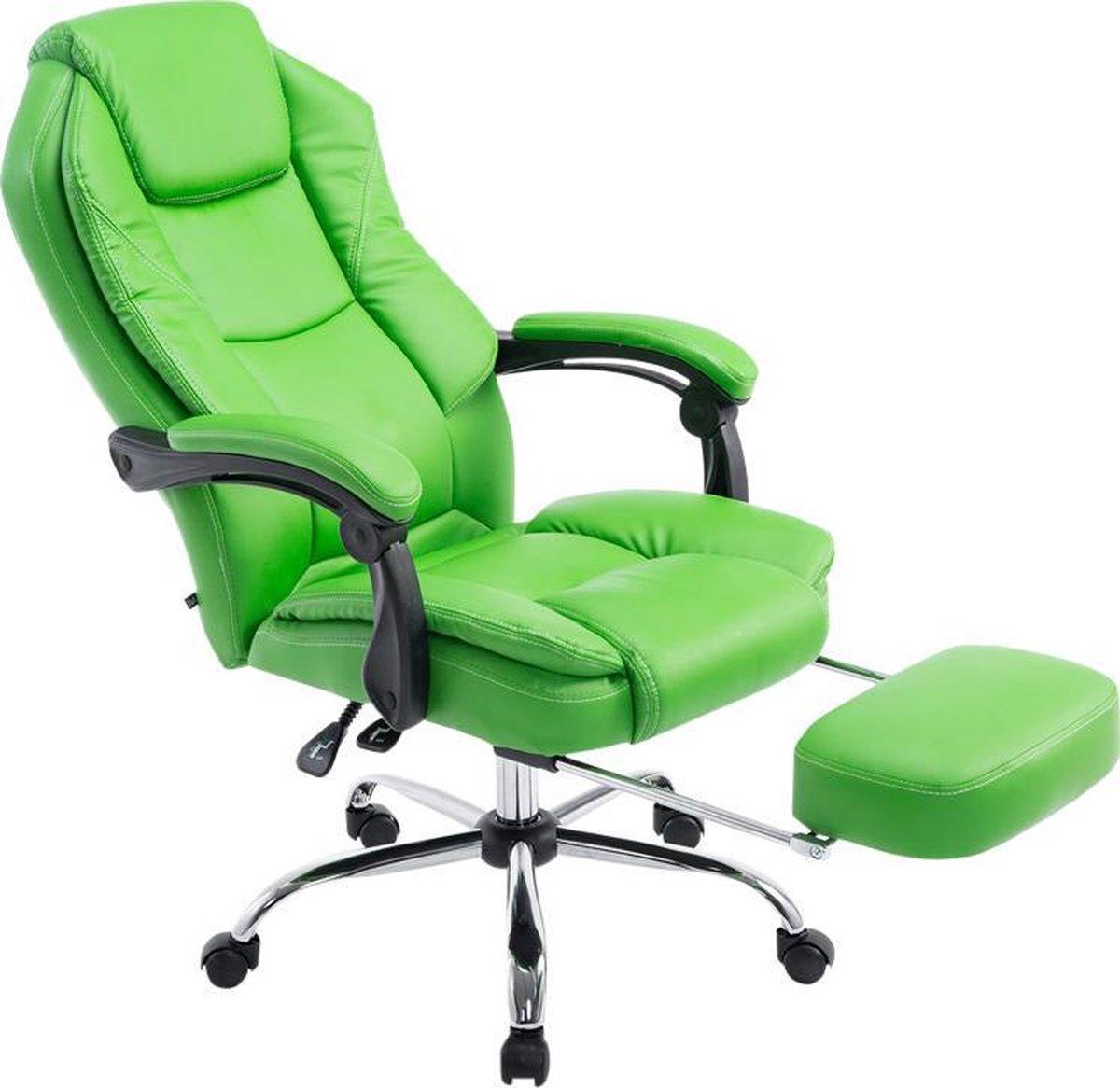 Bureaustoel - Ergonomische bureaustoel - Voetensteun - Kunstleer - Groen - 64x67x114 cm