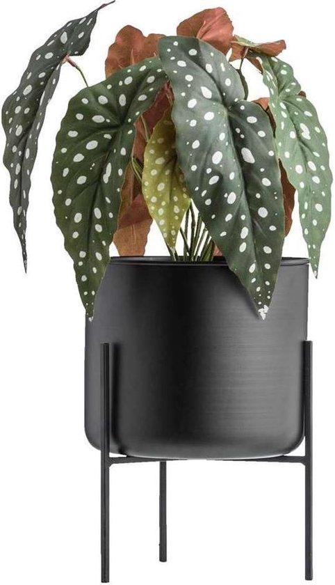 Lucy's Living Luxe bloempot op pootjes GIG – ø20 x 27 cm – binnen – buiten – luxe – accessoires – tuin – decoratie – bloemen – voor binnen – voor buiten – zwart