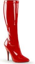 Pleaser Laarzen -42 Shoes- SEDUCE-2000 US 12 Rood
