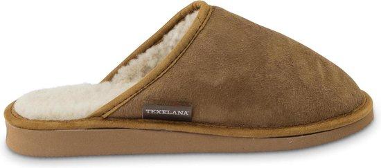 Texelana sloffen en pantoffels voor dames & heren - pantoffel / instapper / slipper van schapenvacht met bontrand - model RIA - maat 38