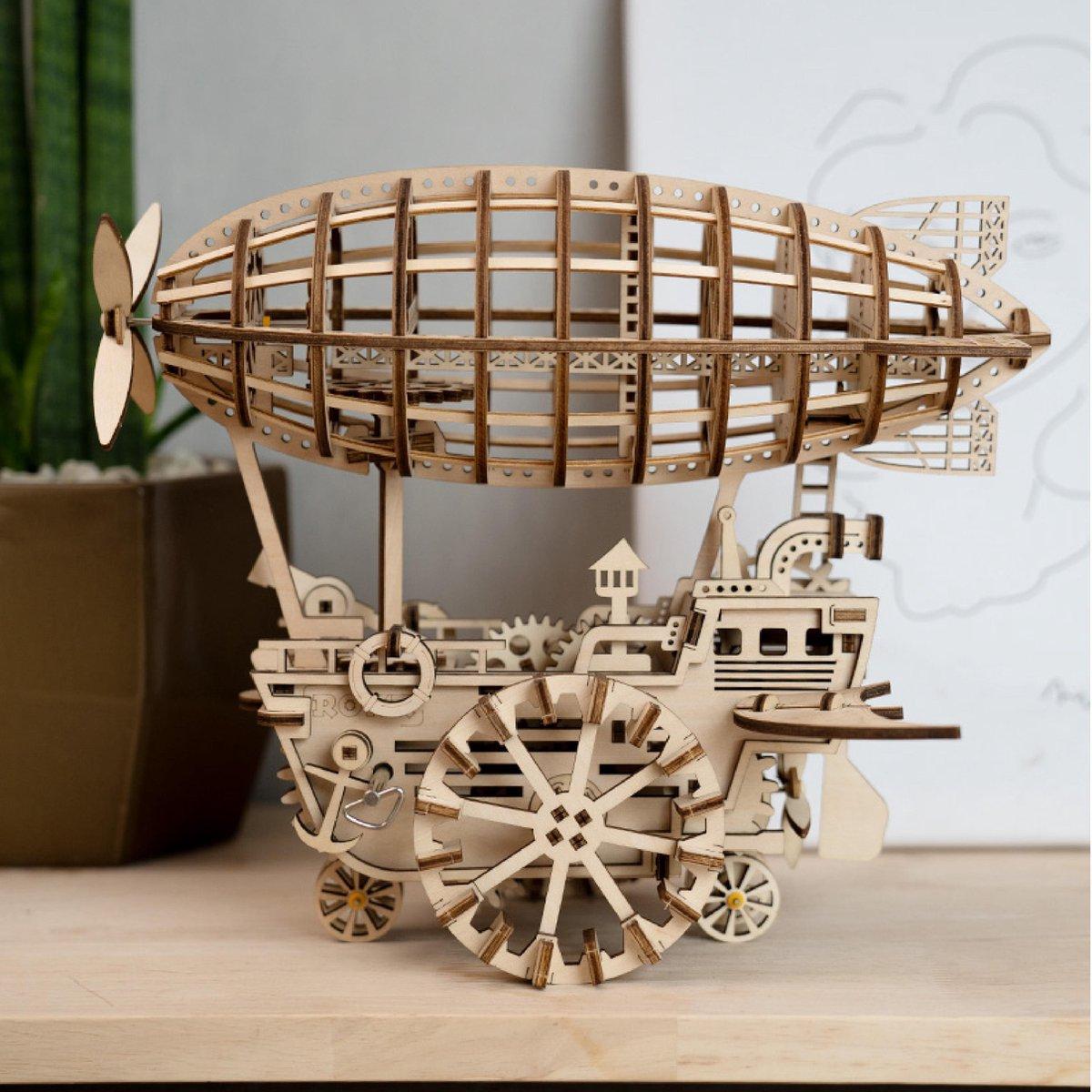 Robotime LK702 Zeppelin Modelbouwpakket|Puzzel|3D Puzzel|Houten puzzel