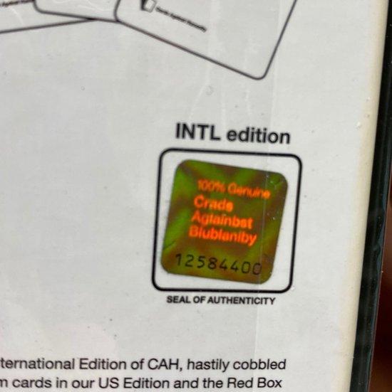 Cards Against Humanity International Edition - Kaartspel