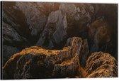 Dibond –Rotsen– 90x60 Foto op Aluminium (Wanddecoratie van metaal)