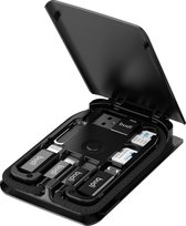 The GoodExperience Gadget Qi 15W Fast Charger - 15W Draadloos Opladen - Alle benodigde accessoires inbegrepen voor elke telefoon/smartphone - Apple Lightning Cable/Kabel/Micro USB/USB-C - en Draadloos Opladen ALL IN ONE