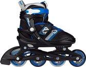 Nijdam Inline Skate Verstelbaar - Go Crossing - Zwart/Blauw/Zilvergrijs/Wit - 37-40