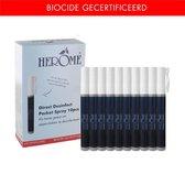 Herome Direct Desinfect Sensitive (Parfumvrij) Refillable Pocket Spray - 10 stuks (100ml) - 80% Alcohol - Voor Desinfectie van Oppervlakken en Handen