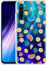 Xiaomi Redmi Note 8 Hoesje Tropical Fruit