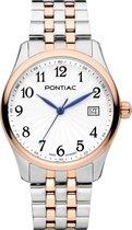 Pontiac Leeds P10054 Horloge - Staal - Multi - Ø 34 mm