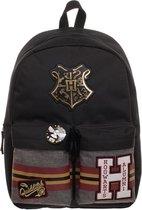 Harry Potter - Hogwarts Patches Rugzak - Black
