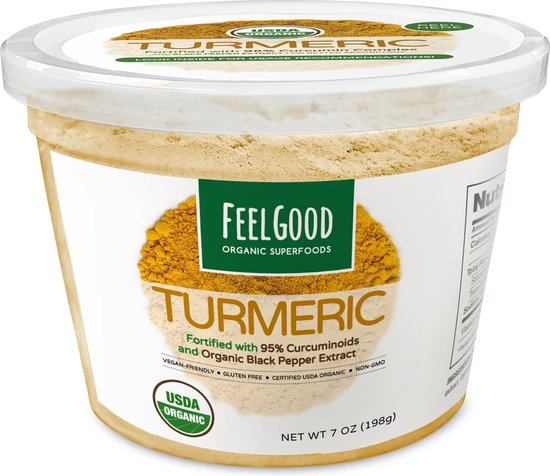 FEEL GOOD Organic Superfoods® TURMERIC POWDER (Kurkuma poeder)