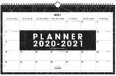 Schoolkalender liggend omslag D1 Hobbit schoolplanner 2020 - 2021 (formaat ±A3) zwart