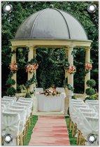 Tuinposter –Bruiloftkoepel– 30x40  Foto op Tuinposter (wanddecoratie voor buiten en binnen)