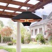 Terrasverwarmer - Hangend - Hangende terrasverwarming - Buitenverwarming - Met verlichting - Met afstandsbediening - 2000 Watt