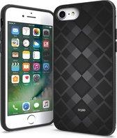 IYUPP iPhone 7 / 8 / SE 2020 Hoesje Grijs x Zwart Cover