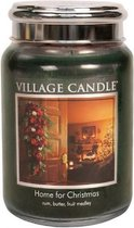 Village Candle - Home for Christmas - Large Candle - Groen