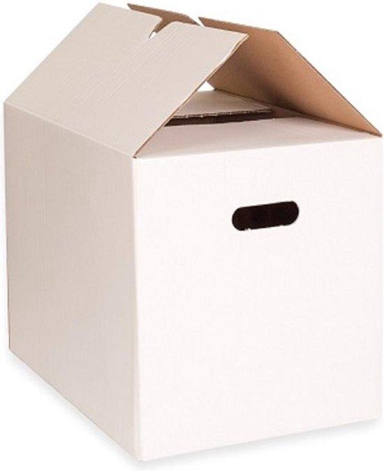 Verhuisdozen KlikKlak 10 stuks - 55 Liter - Dubbelgolf 48x32x33 - zelfsluitend