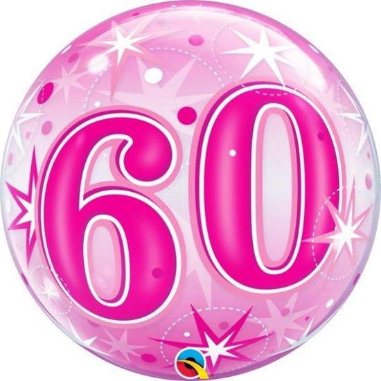Bubble Sparkle Pink 60 jaar