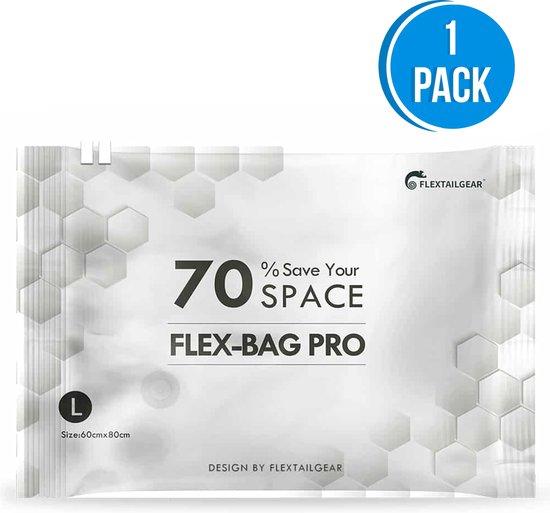 Flextail Gear vacuümzakken Flexbag Pro L Vacuüm opbergzakken - Vacuüm zakken kleding 80x60 cm - 1 stuks