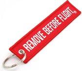 Remove before Flight - (2 Stuks per bestelling) - Vliegtuig - Keychain - Sleutelhanger - Plane - Accessoires