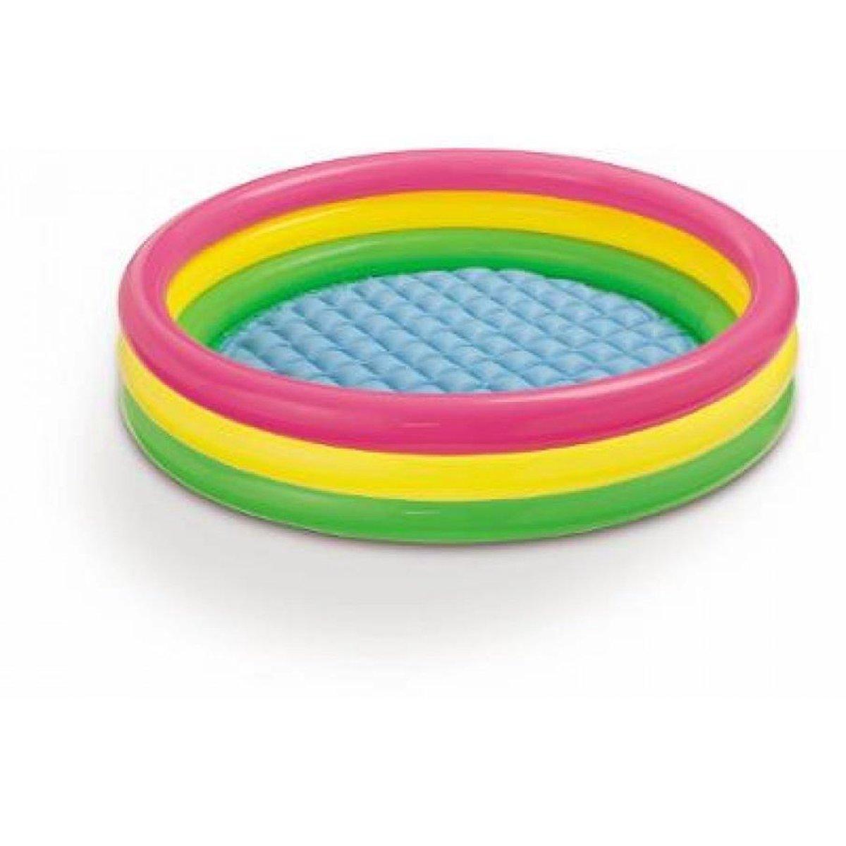 Opblaasbaar Kinderzwembad Regenboog - 147x33cm - Opblaasbaar Badje voor in de Tuin