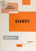 Boek cover Vivres van Georges Kaldrimides