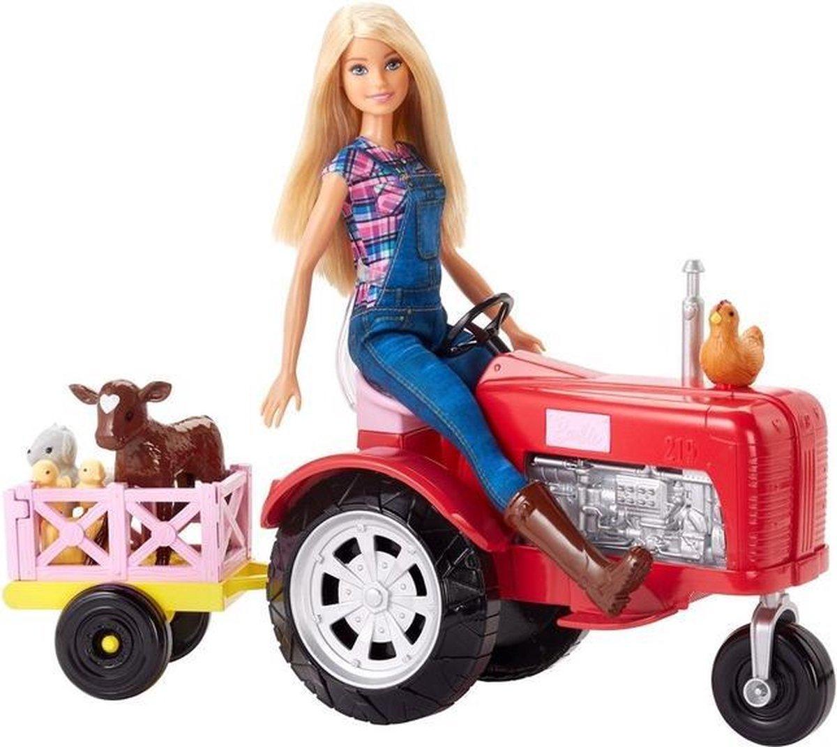 Barbie Boerderijleven Pop met Tractor