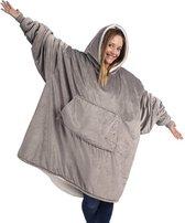 Hoodie deken - Deken met Mouwen - Blanket - Grijs
