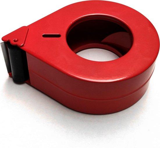 Lusdispenser voor 50mm tape + Kortpack pen (065.0496) - Rood