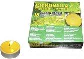 Set van 36x anti muggen waxine lichtjes - Geurkaarsen citrus geur - Anti-muggen citronella kaarsen