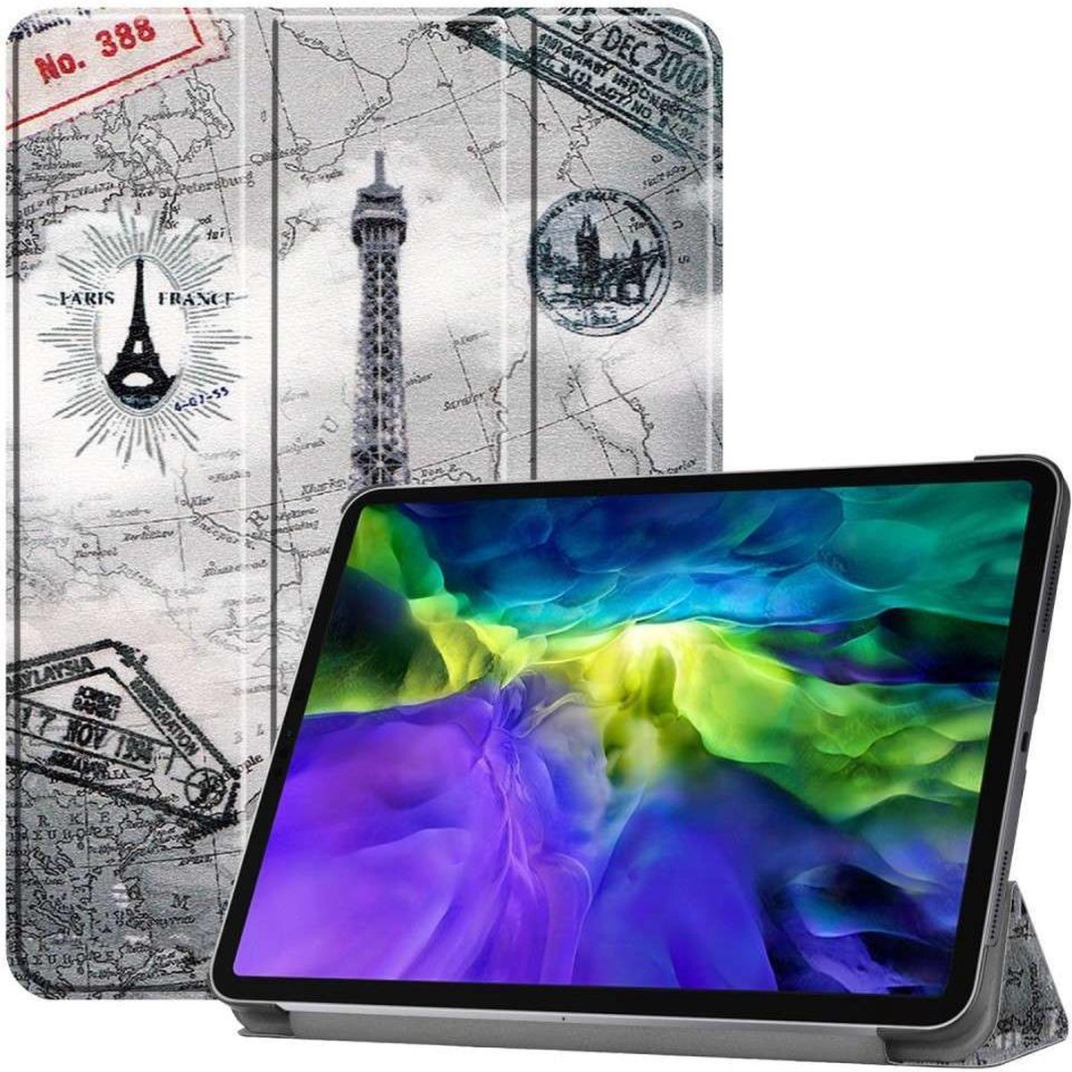 Just in Case Apple iPad Pro 11 2020 Smart Tri-Fold Case (Eiffel Tower)