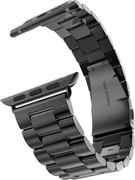 Metaal schakel bandje zwart geschikt voor Apple Watch 42mm en 44mm