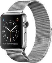 Milanees Apple watch 38mm / 40mm RVS - Zilver - met een stevige magneetsluiting gemaakt van rvs